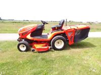 KUBOTA GR2100 II RIDE ON MOWER WITH LOW DUMP COLLECTOR