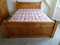 Kingsize Bed - Quality Solid Pine Frame & Mattress