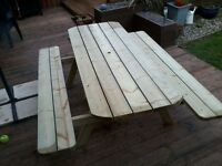 6, 7 and 8 Foot Heavy Duty picnic Tables Pressure Treated