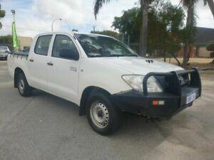 2011 Toyota Hilux KUN16R SR White 5 Speed Manual Dual Cab East Rockingham Rockingham Area Preview
