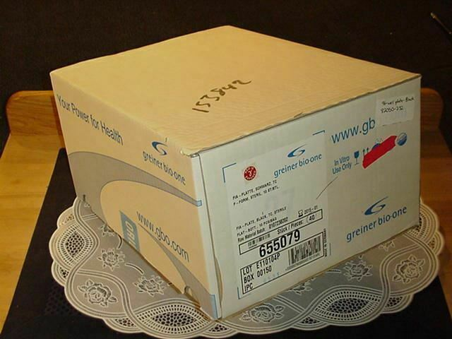 Case Greiner Bio-One 655079 96 Well Polystyrene Cell Culture Microplates Black