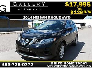 2014 Nissan Rogue S AWD $129 BI-WEEKLY APPLY NOW DRIVE NOW