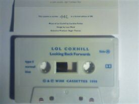 LOL COXHILL - LOOKING BACK FORWARDS PRERECORDED CASSETTE TAPES. WIRE 002/442 OF ONLY 500 COPIES.1990