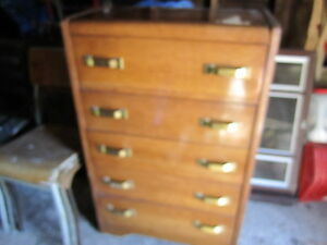 vintage chest of drawers narrow depth tall maple