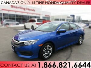 2016 Honda Civic LX | 1 OWNER | NO ACCIDENTS | LOW KM'S