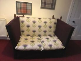Vintage 2 seater cuddle sofa. Recovered. Statement peace for any home. Pick up Only
