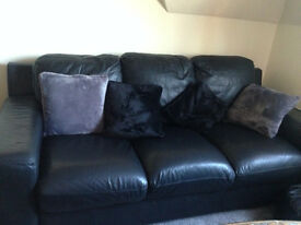 3 seater leather couch.