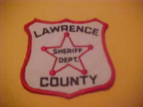 LAWRENCE  COUNTY SOUTH DAKOTA POLICE PATCH SHOULDER SIZE NEW  TYPE 1