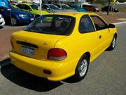 1999 Hyundai Excel X3 Yellow 4 Speed Automatic Hatchback Victoria Park Victoria Park Area Preview