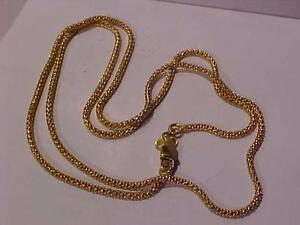 """#870-22k yellow gold POPCORN LINK chain/necklace-Lobster claw closure-21"""" long-FREE layaway"""