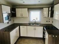 Luxury 13ft single lodge with decking and Pitch Fees - Call James on 07495668377
