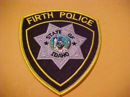 FIRTH IDAHO POLICE PATCH SHOULDER SIZE UNUSED