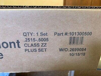 Gage Pin Set .2515-.5005 Plus Vermont 101300500 250 Pcs Class Zz - New