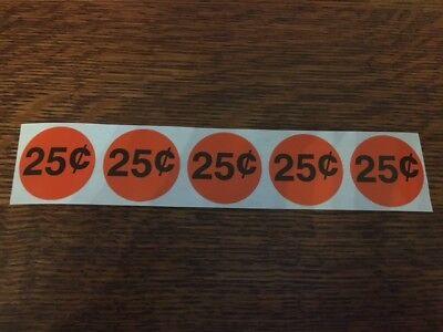 25 Cent Vending Machine Price Decals Stickers Qty 5 -.25 Quarter Vend Original