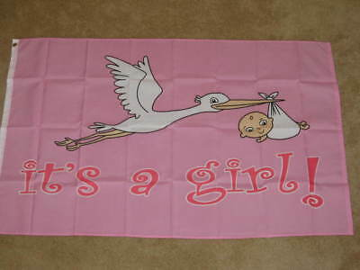 3X5 ITS A GIRL MATERNITY FLAG BABY NEW BABIES F150