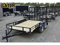 REMORQUE UTILITAIRE TANDEM 69'' X 12' -- SPYDER -- SIDE BY SIDE