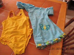 Girl's Size 12months Bathing Suit & Cover Up
