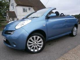 07 NISSAN MICRA C+C 1.6i SPORT PANORAMIC POWER GLASS ROOF CONVERTABLE 48K FSH.