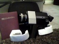 Chinon 471 super 8 movie camera - with original instructions and carry case - very good condition