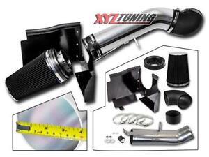"""4"""" BLACK GMC/Chevy V8 4.8L/5.3L/6.0L Heat Shield Cold Air Intake"""