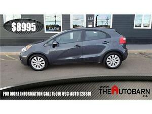 2013 KIA RIO HATCHBACK - 6 SPEED MANUAL, cruise, bluetooth