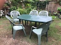 Garden Table & 5 chairs