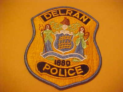 DELRAN NEW JERSEY POLICE PATCH SHOULDER SIZE UNUSED