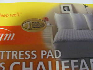 QUEEN HEATED MATTRESS PAD, SUNBEAM $65.