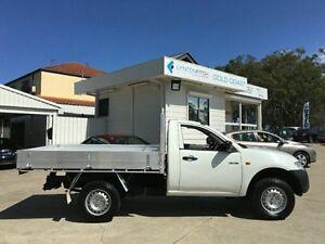 2009 Mitsubishi Triton ML MY09 GLX White Manual Cab Chassis Southport Gold Coast City Preview