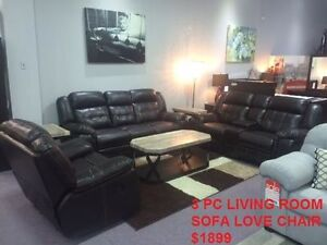 OVERSTOCK SALE ON SOFA'S & RECLINER SETS WITH FREE TABLET