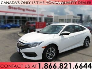2017 Honda Civic Sedan LX | 1 OWNER | NO ACCIDENTS | LOW KM'S