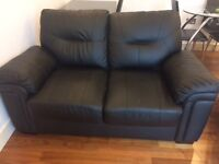 NO LONGER AVAILABLE: Faux Leather Black Leather Sofa
