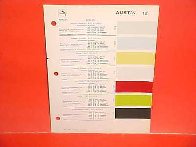1979 AUSTIN MINI COOPER ALLEGRO MARINA MAXI BRITISH LEYLAND GLASURIT PAINT CHIPS
