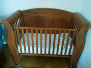 Solid wood crib made in Canada