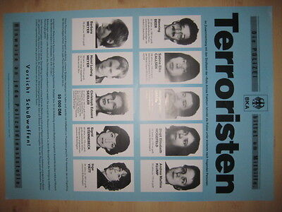 Terroristen - RAF Fahndungsplakat Januar 1990