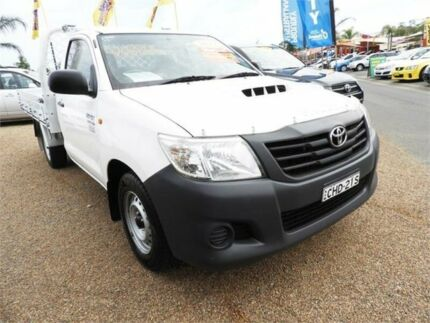 2012 Toyota Hilux KUN16R MY12 Workmate 4x2 White 5 Speed Manual Cab Chassis Minchinbury Blacktown Area Preview