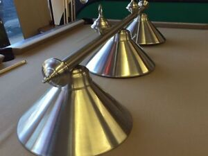 New Stainless Steel 3 Light Fixture for Billiards