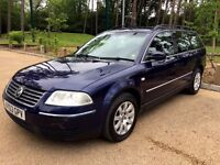 VW PASSAT ESTATE 1.8, NEW MOT, AMAZING S/HISTORY, DRIVES PERFECT!!! BARGAIN!!!