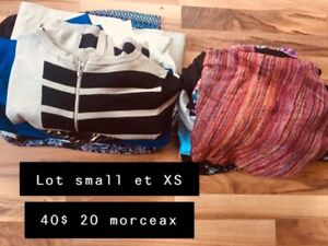 Lot small et XS