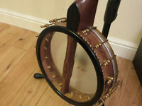 Leon Ballard Custom Semi-Fretless Open Back Banjo with Hard Case