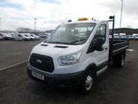 Ford Transit 350 L2 SINGLE CAB TIPPER 100PS EURO 5 DIESEL MANUAL WHITE (2015)