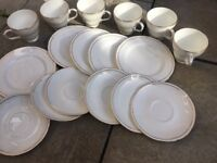 18 Piece Duchess Ascot Bone China Set Plates Cup and Saucers