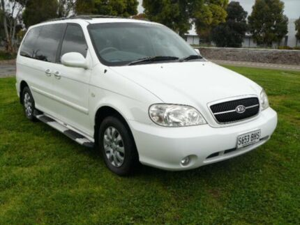2005 Kia Carnival MY04 LS Alaskan White 4 Speed Auto Active Select Wagon Mile End South West Torrens Area Preview