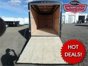HOT DEAL! 7 x 16+3 V-Nose Cargo Trailer - HD Rear Ramp *TAX IN*