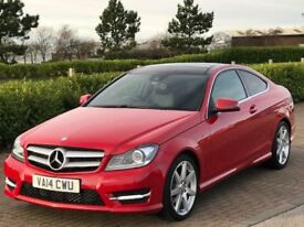 MERCEDES-BENZ C CLASS 2.1 C220 CDI AMG SPORT EDITION PREMIUM PLUS 2d AUT (red) 2014