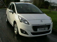 14 REG PEUGEOT 5008 1.6HDi DIESEL ACTIVE 7 SEAT SUV/ MPV 5 DOOR ESTATE IN WHITE