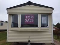 """Static caravan for sale at Berwick including site fees, running costs, all inventory, 32"""" TV & more"""