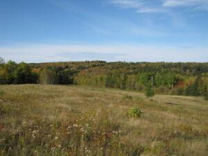 Near Tatamagouche beautiful 6 acre lot fantastic pastoral views