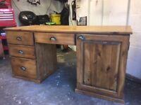 Antique Pine Desk - solid bespoke hand made