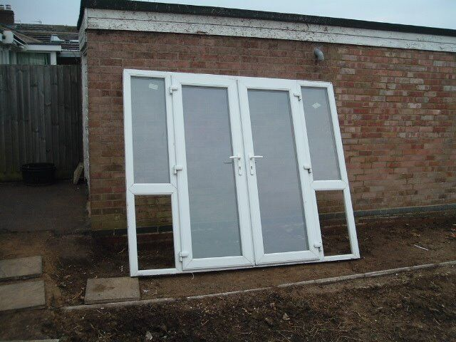 Upvc White Double Glazed Patio Doors All Complete In Kettering
